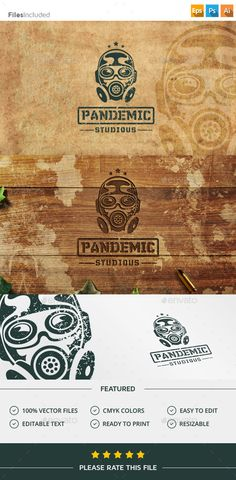 Gas Mask Bio Hazard Logo Template PSD, Vector EPS, AI. Download here: http://graphicriver.net/item/gas-mask-bio-hazard-logo/11728865?ref=ksioks