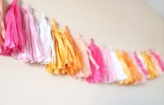 ♥ ♥ ♥ I'm so getting this for my next party!! A #trending home decor! #Ombre #Tassel #Garland only at JuliesElegantCrafts, $21.99. Perfect for #birthdays #parties, and #decorating! Custom orders are welcomed! Click to order now!! ♥ ♥ ♥