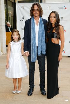 NEW YORK, NY - MAY 12:  Chris Cornell (C) with daughter Toni and wife Vicky Karayiannis attend the American Ballet Theatre 2014 Opening Night Spring Gala>> at The Metropolitan Opera House on May 12, 2014 in New York City.  (Photo by John Lamparski/WireImage) via @AOL_Lifestyle Read more: https://www.aol.com/article/entertainment/2017/05/24/chris-cornells-wife-vicky-pens-letter/22107930/?a_dgi=aolshare_pinterest#fullscreen