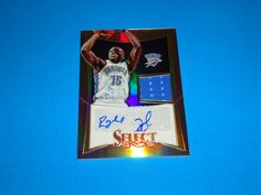 2012-13 Panini Select Reggie Jackson Rookie Auto Jersey Refractor /199 *THUNDER: Card is #257 (086/199).  All cards in NRMINT-MINT condition. Autograph on card does slightly run off the card. Card was pulled from a pack.  Any questions feel free to ask.  FREE SHIPPING!!  All cards are put in a top loader and shipped in a bubble wrapper envelope!  Be sure and check my store on a regular basis to see what new items I have posted. THANK YOU!...