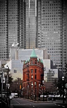 Toronto's Flatiron building—class amid the glass