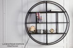 Etagère CIRCLE Ronde Grillagée D100cm - Design Industriel - La Boutique Paris
