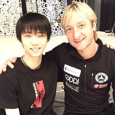 With my friend Olympic champion Yuzuru Hanyu we are preparing for tomorrow's show!   Fantasy on Ice 2015 - FaOI in Makuhari