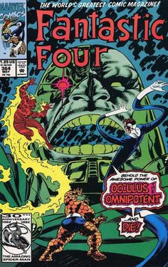Fantastic Four - Marvel - Issue 364 - Occulus The Omnipotent - May 1992 - Paul Ryan
