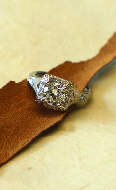 This diamond engagement ring glows bright like a field of fireflies on a summer night.