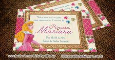 Convite Bela Adormecida Princesa Aurora