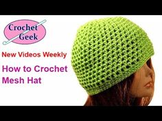 How to make a Crochet Mesh Hat for Adult Man, Woman, and Best Friend - YouTube