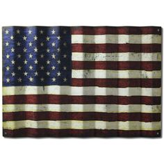 ***Like this one BETTER*** More vintage, will match hosue better.  Vintage American Flag on Corrugated Metal