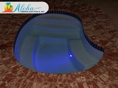 """Breeze 6a: The contoured angles of the Breeze, combined with the stairs and its full bench around the sides, make for a great place to relax at the end of the day. The Breeze is 8'6"""" x 11'6"""" and is 44"""" deep. For more information about Aloha Fiberglass Pools or to find a local pool builder in your area that can assist you, visit www.AlohaFiberglasspools.com or call (800) 786-2318."""