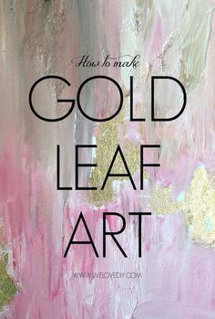 How To Make DIY Gold Leaf Abstract Art! Gold leaf wall art adds a touch of glamour to an otherwise monochromatic room - try it with soft pastels for an on-trend look. Diy Tableau, Cadre Diy, Do It Yourself Quotes, Do It Yourself Design, Gold Diy, Diy Wall Art, Diy Art, Art Feuille D'or, Gold Leaf Art