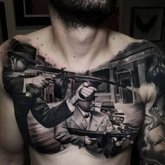 These Amazing Tattoos Are So Effing Artistic - TattooBlend Gangster Tattoos, Chicano Tattoos, Dope Tattoos, Badass Tattoos, Leg Tattoos, Body Art Tattoos, Tattoos For Guys, Sleeve Tattoos, Celtic Tattoos