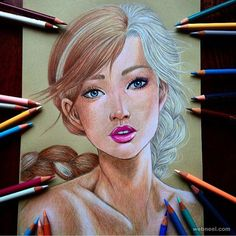 Frozen - Anna and Elsa. Hayao Miyazaki, Disney and Animé in Colored Drawings. To see more art and information about dada click the image. Love Drawings, Beautiful Drawings, Disney Drawings, Pencil Drawings, Art Drawings, Hayao Miyazaki, Wow Art, Disney Fan Art, Disney Pics