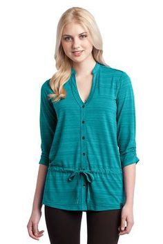 LOG118 - The cure-all for her tired wardrobe, this tunic features bias-cut details and a playful drawcord waist.