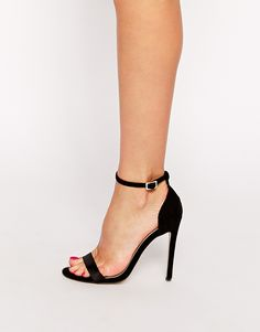 Black Stiletto High Heel Ankle Strap Sandals | beauty | Pinterest ...