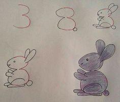 3'ten Ayakta Dikilen Bir Tavşana