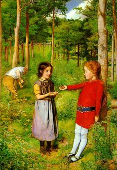 John Everett Millais. The Woodman's daughter 1851 #onlyart_painting #preraphaelitism #genrescene #painting #onlyart