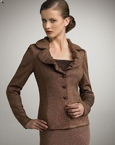 St. John Knits suits reminds of 40s style.