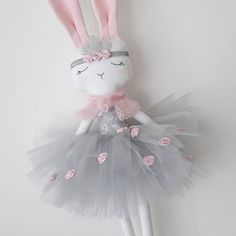 hades of pink and grey! 💕 The final piece from the special collection for 💕✨✨ This lovely large bunny will also be availablePDF sewing pattern for Blank Fawn Doll for crafting bunny girl ! Handmade Toys, Handmade Crafts, Diy Crafts, Fabric Toys, Fabric Crafts, Bunny Toys, Bunnies, Sewing Dolls, Stuffed Animal Patterns