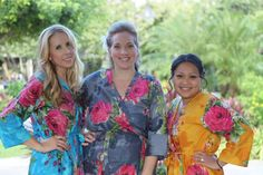 Real life Sample 1 - Bridesmaids Robes made From E5  Fabric Pattern