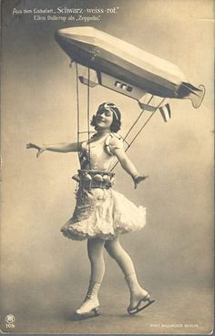 Zeppelin ice skater. Cus why not? #vintage