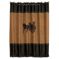 Horse Head Shower Curtain- Western Decor