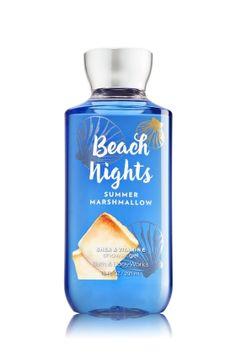 Beach Nights - Summer Marshmallow Shower Gel - A warm blend of toasted marshmallow, sea salt breeze & s'mores