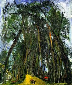 Chaim Soutine, Avenue of Trees at Chatres.  See The Virtual Artist gallery: www.theartistobjective.com/gallery/index.html