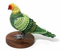 Laurel Roth's Carolina Parakeet beautiful beautiful crochet piece!