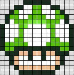 green mushroom patterns