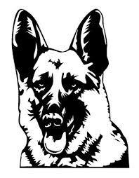 dog head silhouette - Google Search