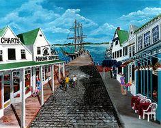The wharf in Greenport, Long Island, NY