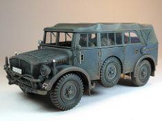 Horch 4x4 Type 1a Einheits PKW Tamiya 35052 M 1:35 Modellbau Wehrmacht WW II