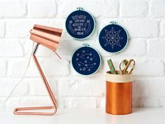 Constellation embroidery pattern hoop art - Mollie Makes