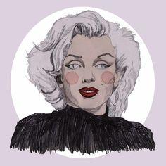 Marilyn Monroe Print by daisyillustrates on Etsy