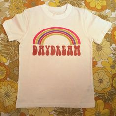 69e18d89f Hippie boho vintage retro 60s 70s: white rainbow daydream tshirt It is  printed onto a