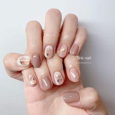 Elegant Nails, Stylish Nails, Cute Nails, Pretty Nails, Gel Nails, Acrylic Nails, Asian Nails, Korean Nail Art, Nail Art Designs Videos