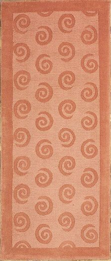 NEW CONTEMPORARY MODERN AREA RUG 45259 - AREA RUG  This beautiful Handmade Tufted Runner rug is approximately 2 x 8 New Contemporary area rug from our large collection of handmade area rugs with Modern style from India with Wool