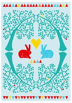 Kids room - The rabbits poster - Ninainvorm