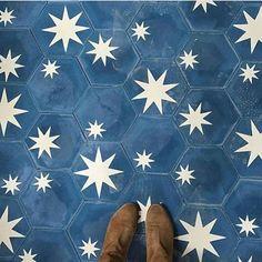 Hex star tiles by Popham design * Where I Stand * The Inner Interiorista Layout Design, Bathroom Inspiration, Design Inspiration, Bathroom Ideas, Design Ideas, Concrete Tiles, Bathroom Flooring, Bathroom Mural, Mosaics