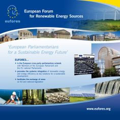 Banner 2,25 x 2,25 m for Eufores, the European Forum for Renewable Energy Sources.  By double-id.com