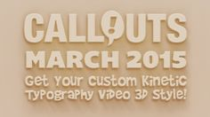I have to admit, I am a little bit jittery. The simple reason is that the Monthly Bonus this month is something really amazing. During March and April I'll make a custom Kinetic Typography Video 3D style – just for you! I have already prepared a video (see below) that shows what your personal video can look like, but with your own text of course.  We also have Easter around the corner so we have a lot of Easter Greeting and Worship resources for you this month. Plus a lot more as usual.