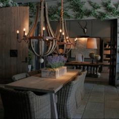 Restoration Hardware. Favorite wood chandelier. I love this chandelier so much, now just need to find a space for it. :}}