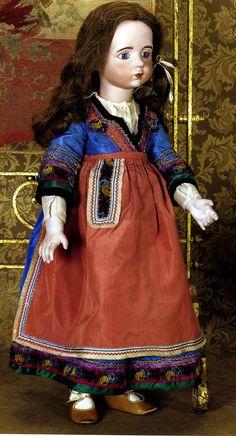 #38 Antique A. Marque doll in original costume