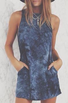 tie dye tank dress                                                       …