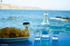 Cretan traditional raki (tsikoudia).Crete, Greece