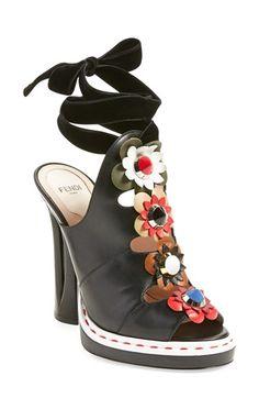 8f2ded0fde0 Fendi  Flowerland  Peep Toe Sandal (Women)