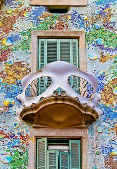 Casa Batlló (Gaudí), Barcelona, Spanje. https://www.hotelkamerveiling.nl/hotels/spanje.html
