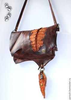 4lapki сумочка-клатч-косметичка кожа крокодил ручная работа / genuine leather bag purse clutch handmade