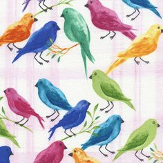 Timeless Treasures Daydreams Pink Song Birds