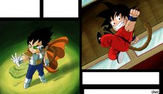 Different Ways by OmaruIndustries.deviantart.com - Young Vegeta and Goku